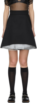 SHUSHU/TONG SSENSE Exclusive Black A-Shape Skirt