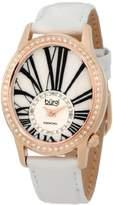 Burgi Women's BUR058WT Swiss Quartz Diamond Strap Watch