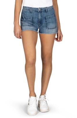 STS Blue High Waist Fray Hem Denim Shorts