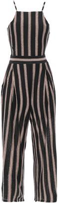 Joie Briselle Tie-back Striped Slub Linen-jersey Jumpsuit