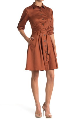 Donna Morgan Fit & Flare Shirt Dress