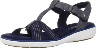 Grasshoppers Women's Ruby T-Strap Sandal Chambray Sneakers