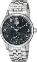 Revue Thommen 16060.2137 Men's Airspeed XLarge Big Date Classic Wrist Watch, Dial with Silver Band