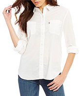 Levi's s Poplin Point Collar Boyfriend Shirt