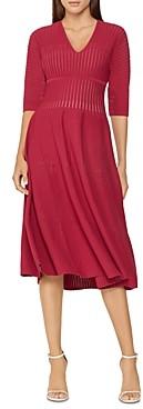 Herve Leger Opaque Deep V-Neck A-Line Dress