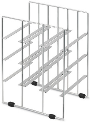 Blomus Pilare 9 Bottle Wine Rack - Silver