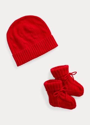 Ralph Lauren Cashmere Hat & Booties