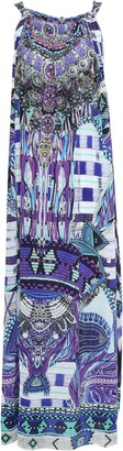 Camilla Zebra Crossing Crystal-embellished Printed Silk Crepe De Chine Maxi Dress