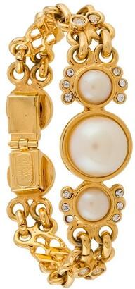 Versace Pre-Owned 1990s Pearl Link Bracelet