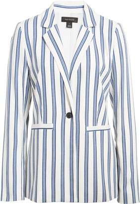 Halogen Stripe Cinch Sleeve Blazer