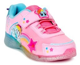 My Little Pony Hasbro Toddler Girls Lighted Chunky Retro Athletic Sneakers