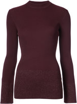 Nomia mock neck ribbed knit