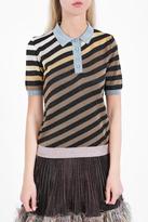 Marco De Vincenzo Diagonal Striped Polo Shirt