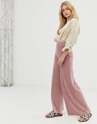 Free People bambi wide leg cord pants-Pink