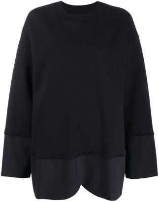 MM6 MAISON MARGIELA contrast hem sweatshirt