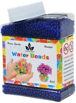 AINOLWAY High Elastic Water Beads Gel Pearls Jelly Crystal Soil for Kids Sensory toys or Vase Fillers 4oz Almost 15,000 Pcs