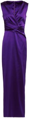 Talbot Runhof Twist-front Duchesse-satin Gown