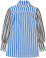 Sonia Rykiel Striped Cotton-poplin Shirt - Blue