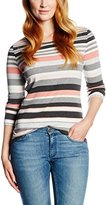 Gerry Weber Women's Stripe Cotton Top / Three-Quarter Sleeve Tee,40