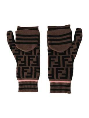 Fendi ff logo print gloves