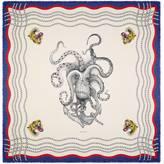 Gucci Octopus print modal silk shawl