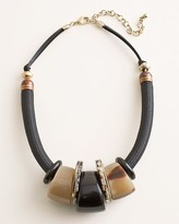 Chico's Chicos Black and Neutral Bib Necklace