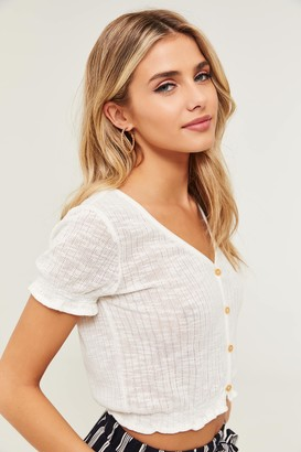 Ardene Buttoned Knit Top