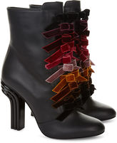 Marco De Vincenzo Black Leather Bow Back Boots