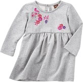 Tea Collection Wago Embroidered Dress (Baby) - Medium Heather Grey - 18-24 Months Baby