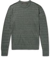 Michael Kors Striped Mélange Cotton Sweater