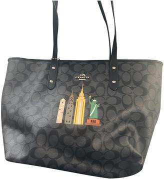 Coach Crossgrain Taxi Tote Black Leather Handbags