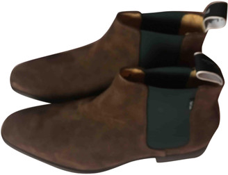 Paul Smith Brown Suede Boots
