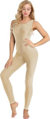 YOOJIA Women's Adult Sleeveless One Piece Skinny Tank Unitard Yoga Dance Bodysuit Tops Gym Gymnastic Jumpsuit Black Large