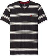 U.S. Polo Assn. Men's Balanced Striped V-Neck T-Shirt