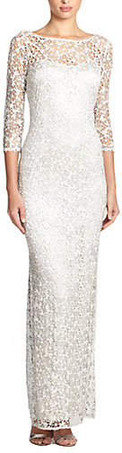 Kay Unger Metallic Lace Gown