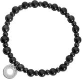 Antica Murrina Veneziana Perleadi Black Murano Glass Beads Bracelet