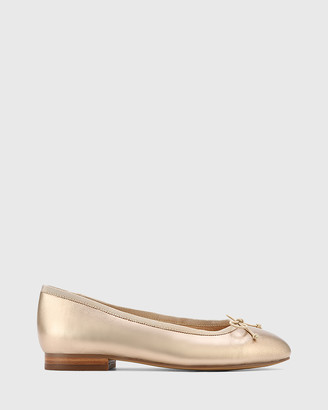 Wittner - Women's Silver Ballet Flats - Aroma Leather Ballet Flats - Size One Size, 36 at The Iconic