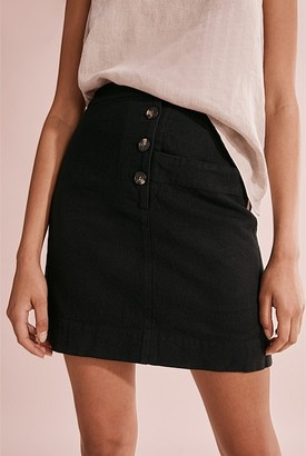 Country Road Linen Twill Mini Skirt