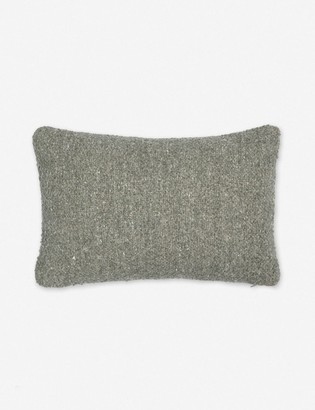 Lulu & Georgia Manon Linen Boucle Lumbar Pillow, Moss