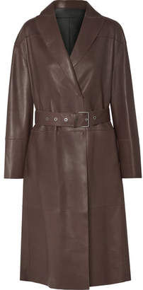 Brunello Cucinelli Reversible Leather Trench Coat - Chocolate