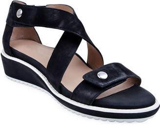 Bettye Muller Tobi Leather Demi-Wedge Sandals