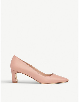 LK Bennett Freya block-heel leather courts