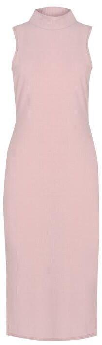 Thumbnail for your product : Fabric Brushed Soft Rib Slit Detail Midi Dress