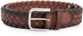 Orciani Burnished Woven Leather Belt