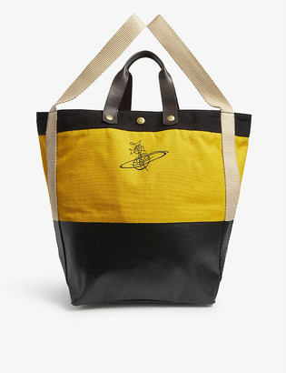 Vivienne Westwood Vw Worker Orb Canvas Tote