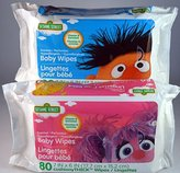 Sesame Street hypoallergenic baby wipes,80 ct,(2 pks for total of 160 wipes)