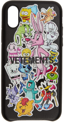 Vetements Black Monsters iPhone XS Case