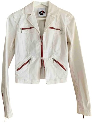 Plein Sud Jeans White Cotton Jacket for Women