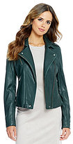 Gianni Bini Joey Genuine Leather Moto Jacket