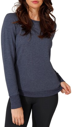 90 Degree By Reflex Terry Brushed Long Sleeve Top